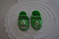 Fondant baby girl sandals