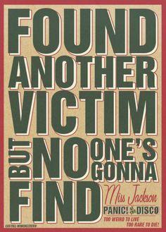 panic at the disco lyrics miss jackson - Google Search