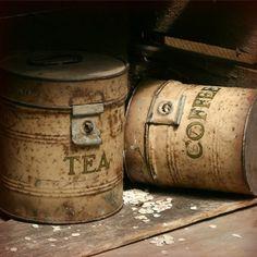 Oh soooo Shabby....coffee tea tins