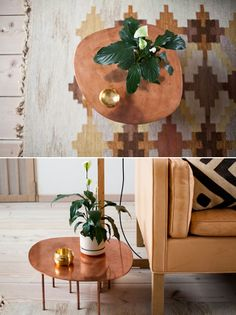 Brass/Copper Table <3 Mjölk is a beautiful shop in Toronto owned by John Baker and Juli Daoust