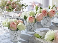 Sweet Bouquets in Glasses