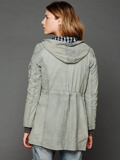 Doma Hooded Leather Jacket at Free People Clothing Boutique