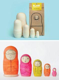 Blank - Matryoshka Dolls • Available at thebigdesignmarket.com