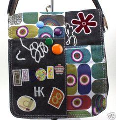 Damen Handtasche Patchwork Umhängetasche Shopper Bag Bunte Tasche Schultertasche | eBay