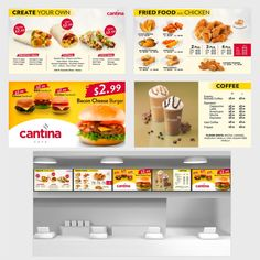 Create Digital Restaurant Menu Board Design by Zheikah