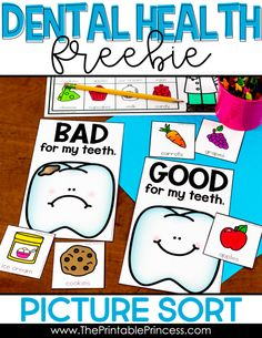 Are you looking for hands-on and engaging activities to bring the dental health into your Kindergarten classroom? Then you will love the Dental Health… Health Unit, Kids Health, Kindergarten Classroom, Kindergarten Activities, Health Activities, Space Activities, Craft Activities, Dental Health Month, Health Lessons