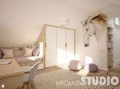 pokój dziewczynki na poddaszu-konie - zdjęcie od MIKOŁAJSKAstudio - Pokój dziecka - Styl Eklektyczny - MIKOŁAJSKAstudio