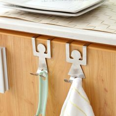 Lovers Shaped Hooks House Kitchen Pot Pan Hanger Clothes Storage Rack Tools for sale online Form Design, Shape Design, Pan Hanger, Towel Hanger, Over The Door Hooks, Storage Hooks, Cabinet Storage, Cabinet Doors, Support Mural