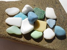 Milk sea glass lot, milk beach glass supply, Greek craft sea glass supply by BeniciaSeaglass on Etsy
