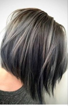 Trendy Hair Gray Balayage Brunettes Hair Color Ideas hair color ideas for brunettes with gray Brunette Hair With Highlights, Brown Blonde Hair, Balayage Brunette, Hair Color Balayage, Light Brown Hair, Dark Brown, Silver Highlights, Color Highlights, White Blonde