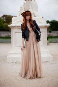 83912f23632a Косуха+платье в пол, контрасты Длинные Платья, Вечерние Платья, Sexy  Dresses,