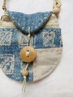 Indigo textile Talisman Pouch par Indinoco sur Etsy