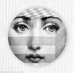 square Lina Cavalieri melamine plate by TheMadPlatters on Etsy