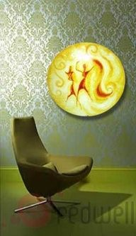 Redwell USA - Infrared Heating at Retro Vegas (Painted Round Panel - Retro Syle)