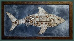 Steampunk White Shark