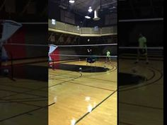 When learning how to serve in volleyball you should imagine that you are attacking the ball with your serve.