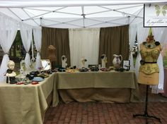 The Happy Heathen's booth. Love the sheers on this one. Wonder how it would do outdoors when windy?