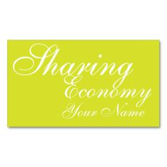 Financial Consulting Sharing Economy Business Card Template
