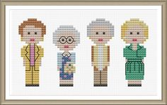 This is a counted cross stitch PDF ePattern for the 4 gals from Golden Girls. This pattern arrives as an Instant Download! A few minutes after your