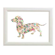 Dachshund Wall Art canvas art - dachshund and fleur de lis! | cutenesses! | pinterest