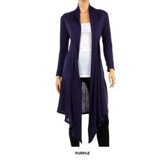 Lightweight Long Cardigan - Assorted Colors at 71% Savings off Retail! <3 love this for birthday :D