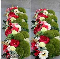 Funeral Flower Arrangements, Modern Flower Arrangements, Funeral Flowers, Deco Floral, Arte Floral, Holiday Centerpieces, Floral Centerpieces, Cemetery Decorations, Casket Sprays