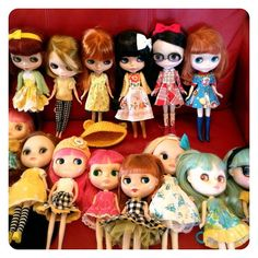 Blythe dolls with cute dresses!