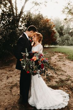 Garden Wedding Husband & Wife