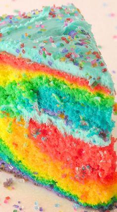 Tie-Dye Cake with Blue Raspberry Frosting