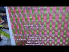 meshwork il primo intreccio - YouTube Weaving Patterns, Embroidery Patterns, Quilt Patterns, Tumbling Blocks Quilt, Quilt Blocks, Elephant Quilts Pattern, Diy And Crafts, Arts And Crafts, Fabric Origami