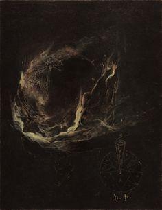 The Emperor's Bath. Study from the Visio Tnugdali series, 2016 Denis Forkas Arte Horror, Horror Art, Dark Paintings, Satanic Art, Arte Obscura, Occult Art, Creepy Art, Dark Photography, Art Abstrait
