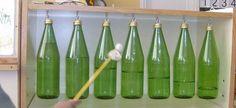Xilófono con botellas.