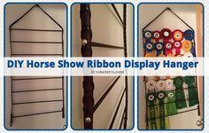 DIY Horse Show Ribbon Display Hanger