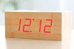 HITO Teak Alarm Clock on Amazon-36.99