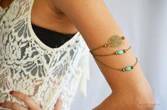 Armlet Slave Bracelet Arm Bracelet Piece Hipster by FunnyPeopleCo, $15.00