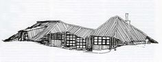 Om arkitektur: Den lange linjen. Knut Knutsen og utviklingen av en moderne norsk trearkitektur School Architecture, Architecture Plan, Gazebo, Outdoor Structures, Interior, Cabins, Masters, Houses, Drawings