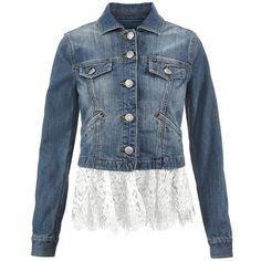 Dakota Jacket cabi ($159) ❤ liked on Polyvore featuring outerwear, jackets, cabi, cabi jacket and blue jackets