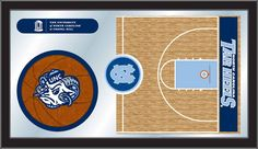 The North Carolina Tar Heels Basketball Mirror looks fantastic on dorm room or fan cave walls, made in the USA
