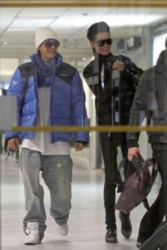 Bill Kaulitz in Tokio Hotel Members at the Nice Airport