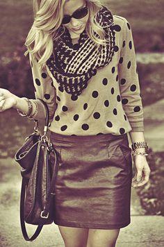 Polka Dots for Fall! via Happily Grey