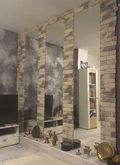 Stone & mirror Wall