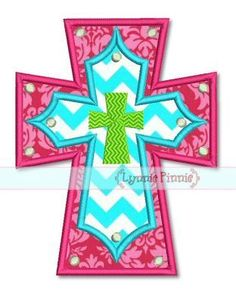 free christian pes embroidery designs | Layered Cross Applique 4x4 5x7 6x10 7x11 SVG