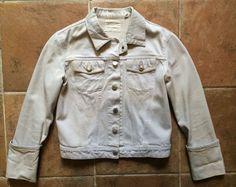 Vintage Helmut Lang Denim Jacket / '90s Minimal Bleached Jean Jacket / Designer Distressed Grunge Coat / Womens Size S M