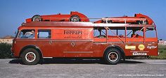 At the end of the 50s, Modena, the Scuderia Ferrari transporter with the D246 ?? . ©Denise McCluggage .