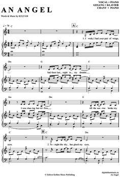 An Angel (Klavier + Gesang) Kelly Family [PDF Noten] >>> KLICK auf die Noten um Reinzuhören <<< Noten und Playback zum Download für verschiedene Instrumente bei notendownload Blockflöte, Querflöte, Gesang, Keyboard, Klavier, Klarinette, Saxophon, Trompete, Posaune, Violine, Violoncello, E-Bass, und andere ...