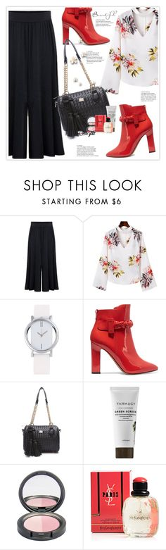 """Rosegal37"" by stranjakivana ❤ liked on Polyvore featuring Valentino and Yves Saint Laurent"