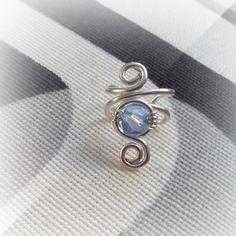 Silver Ear Cuff Swarovski Crystal Light by ElectriccDreams on Etsy  $9.00 USD