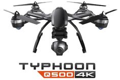 Typhoon G - Easy to use - Capture the future - Up to 25 minutes flight time - Personal Ground Station with built-in touchscreen - 3-axis precision gimbal for GoPro® - Up to 400m direct digital video d