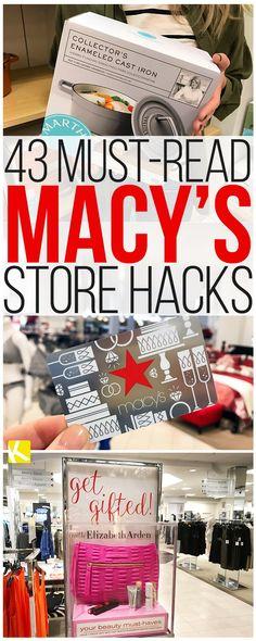 43 Must-Read Macy's Store Hacks Store Hacks, Shopping Hacks, Go Shopping, Best Money Saving Tips, Saving Money, Money Savers, Money Tips, Couponing 101, Money Shop