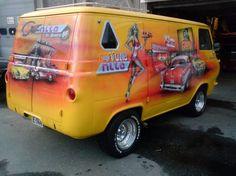 Custom VANS natural BABES & other bad ass transportation. Customised Vans, Custom Vans, Ford Trucks, Pickup Trucks, Camper, Old School Vans, Vanz, Custom Paint Jobs, Vintage Vans